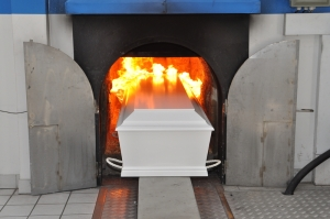 Coffin-crematorium
