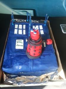 Doctor Who Tardis Cake and Dalek