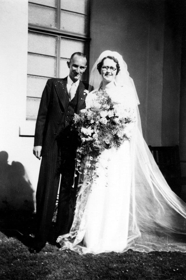 The poem's author's parents on their wedding day