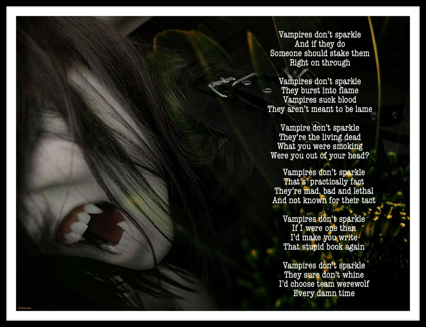 Poetry Prompt #36: Vampires Don't Sparkle The Blurred Line - 1730x1330 ...