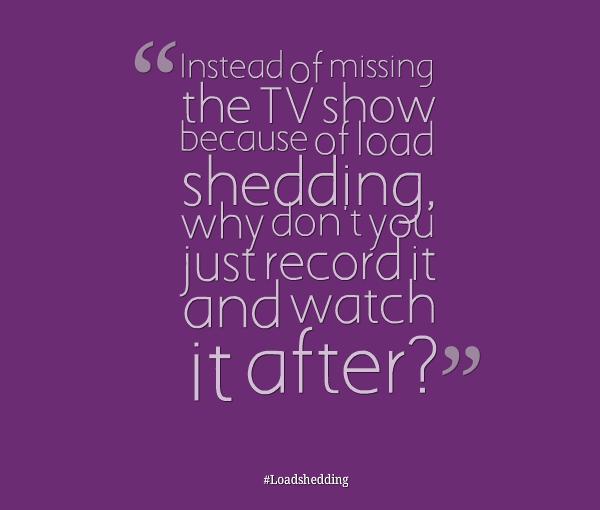 Shedding the Load